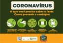 CORONAVÍRUS | A melhor forma de combater o avanço do novo #coronavírus é a #prevenção. Siga sempre as orientações das autoridades de saúde!