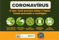 CORONAVÍRUS   A melhor forma de combater o avanço do novo #coronavírus é a #prevenção. Siga sempre as orientações das autoridades de saúde!