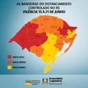 Governo do Rio Grande do Sul atualizou os dados do mapa do distanciamento controlado