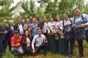 Vereador celebra a abertura da colheita do pêssego em Pinto Bandeira